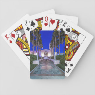 USA, California, Los Angeles, Union Station Playing Cards