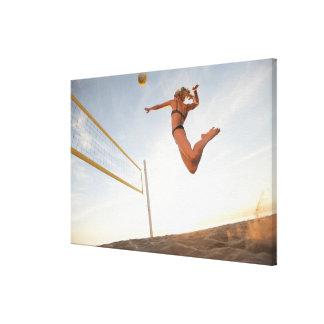 USA, California, Los Angeles, woman playing 2 Canvas Print