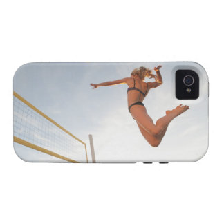 USA, California, Los Angeles, woman playing 2 Case For The iPhone 4