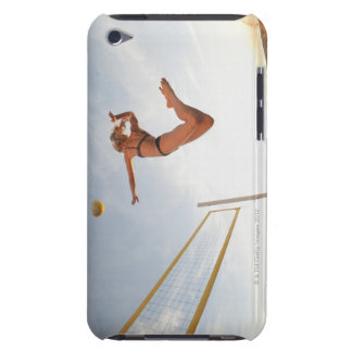 USA, California, Los Angeles, woman playing 2 iPod Case-Mate Cases