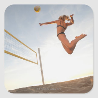 USA, California, Los Angeles, woman playing 2 Square Sticker
