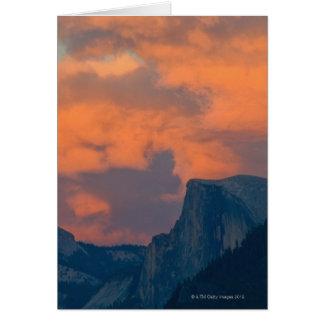 USA, California, Mariposa County, Half dome in Card