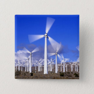 USA, California, Mojave. View of a wind turbine 15 Cm Square Badge