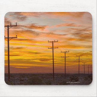 USA, California, Palm Springs, power line at 2 Mouse Mat