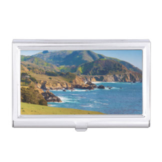USA, California. Panorama Of Big Sur With Bixby Business Card Holder