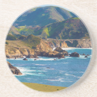 USA, California. Panorama Of Big Sur With Bixby Coaster
