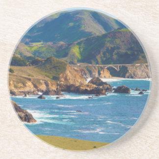 USA, California. Panorama Of Big Sur With Bixby Coasters