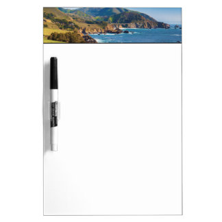 USA, California. Panorama Of Big Sur With Bixby Dry Erase Board
