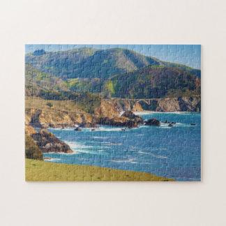 USA, California. Panorama Of Big Sur With Bixby Jigsaw Puzzle