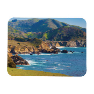 USA, California. Panorama Of Big Sur With Bixby Magnet