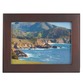 USA, California. Panorama Of Big Sur With Bixby Memory Boxes