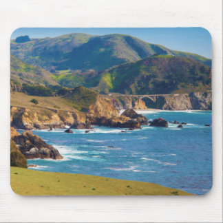 USA, California. Panorama Of Big Sur With Bixby Mouse Mat