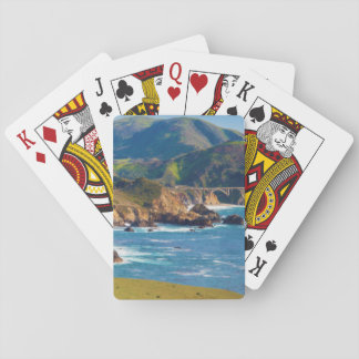 USA, California. Panorama Of Big Sur With Bixby Playing Cards