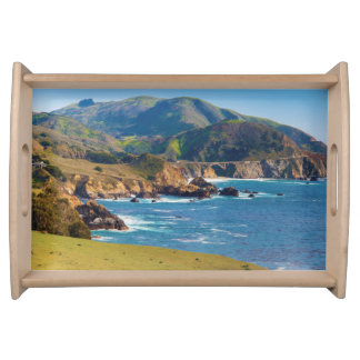 USA, California. Panorama Of Big Sur With Bixby Serving Tray