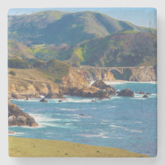 USA, California. Panorama Of Big Sur With Bixby Stone Coaster