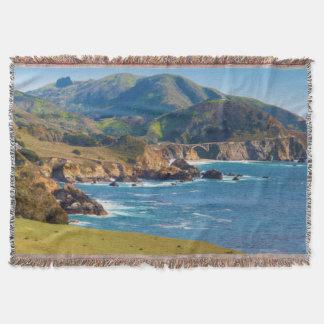 USA, California. Panorama Of Big Sur With Bixby Throw Blanket