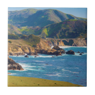 USA, California. Panorama Of Big Sur With Bixby Tile
