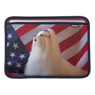 USA, California. Patriotic Maltese Sleeve For MacBook Air