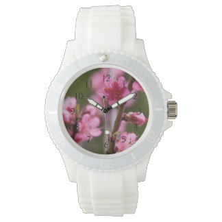 USA, California. Pink Blooms On A Tree Wristwatch