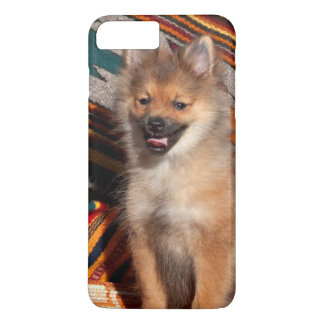 USA, California. Pomeranian Sitting iPhone 8 Plus/7 Plus Case