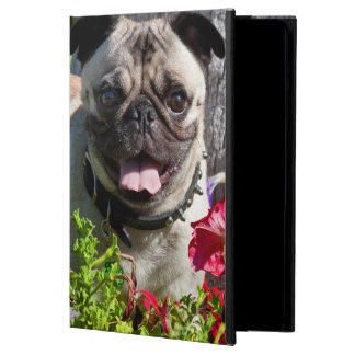 USA, California. Pug In Flower Garden Cover For iPad Air