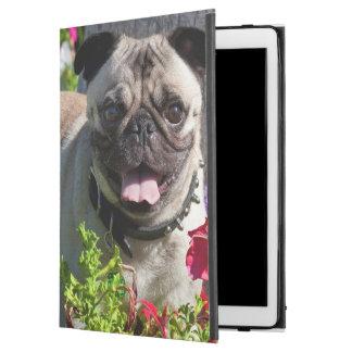 "USA, California. Pug In Flower Garden iPad Pro 12.9"" Case"
