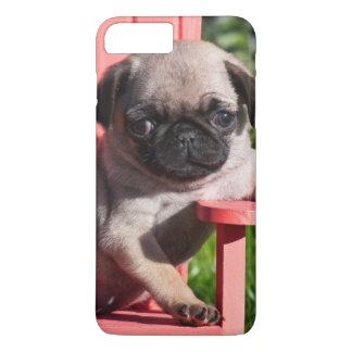 USA, California. Pug Puppy Slouching iPhone 8 Plus/7 Plus Case