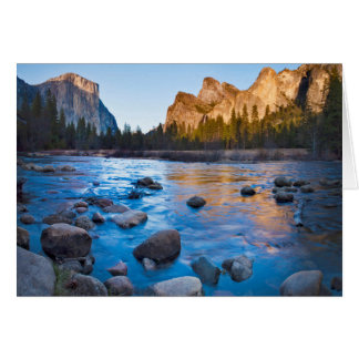 USA, California. Rocky Reflections In Merced Card
