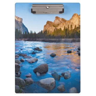 USA, California. Rocky Reflections In Merced Clipboard