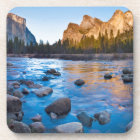 USA, California. Rocky Reflections In Merced Coaster