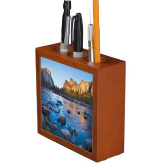 USA, California. Rocky Reflections In Merced Desk Organiser