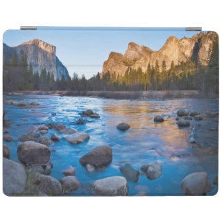 USA, California. Rocky Reflections In Merced iPad Cover