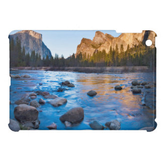 USA, California. Rocky Reflections In Merced iPad Mini Covers