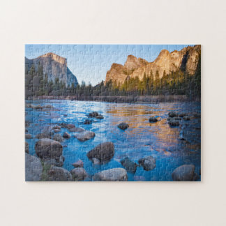 USA, California. Rocky Reflections In Merced Jigsaw Puzzle