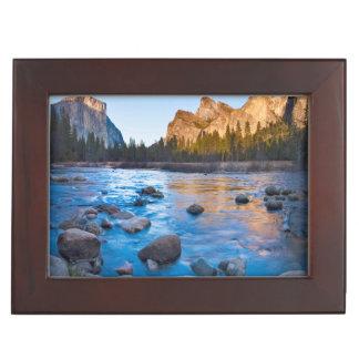 USA, California. Rocky Reflections In Merced Keepsake Box