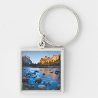 USA, California. Rocky Reflections In Merced Key Ring