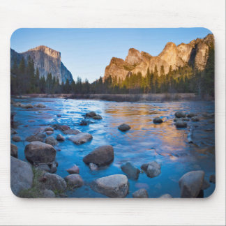 USA, California. Rocky Reflections In Merced Mouse Mat