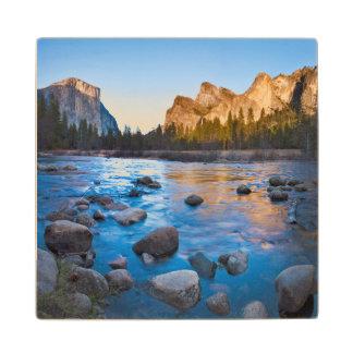 USA, California. Rocky Reflections In Merced Wood Coaster