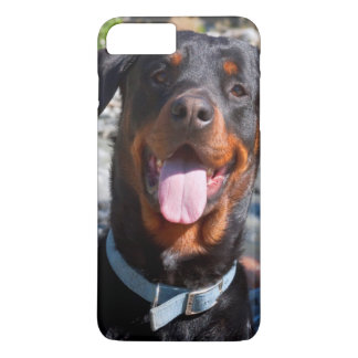USA, California. Rottweiler Smiling iPhone 8 Plus/7 Plus Case