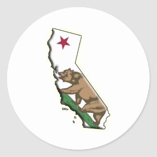 USA: CALIFORNIA ROUND STICKER