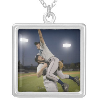 USA, California, San Bernardino, baseball 10 Silver Plated Necklace