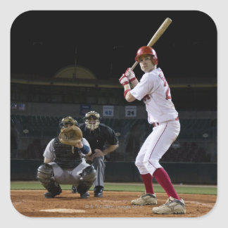 USA, California, San Bernardino, baseball 12 Square Sticker