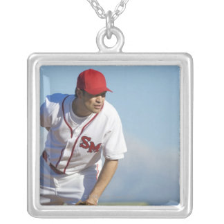USA, California, San Bernardino, baseball 3 Silver Plated Necklace