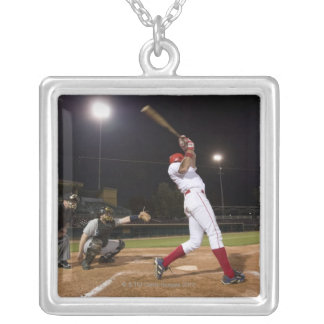 USA, California, San Bernardino, baseball 6 Silver Plated Necklace