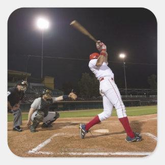 USA, California, San Bernardino, baseball 6 Square Sticker