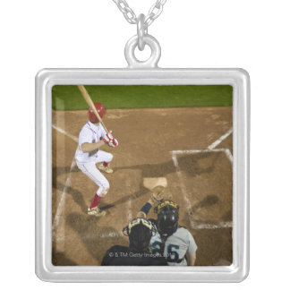 USA, California, San Bernardino, baseball 7 Silver Plated Necklace