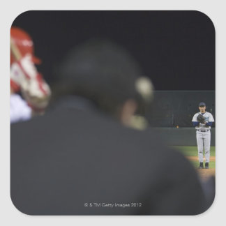 USA, California, San Bernardino, baseball game, Square Sticker