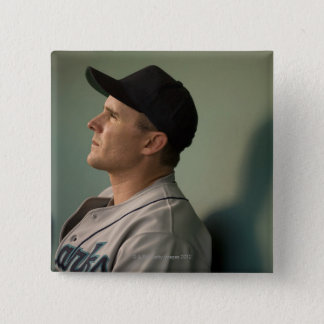 USA, California, San Bernardino, baseball player 15 Cm Square Badge