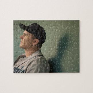 USA, California, San Bernardino, baseball player Jigsaw Puzzle