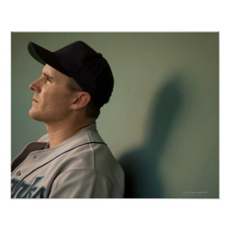 USA, California, San Bernardino, baseball player Poster